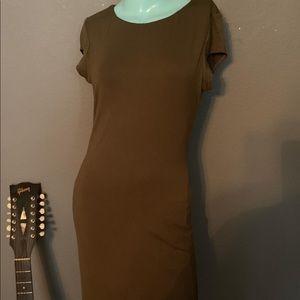 NWT Velvet Torch Olive Green Dress Large SOFT!